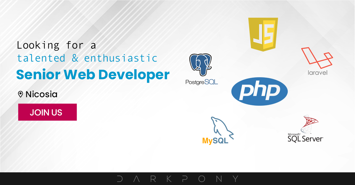 Job opening: Senior Web Developers