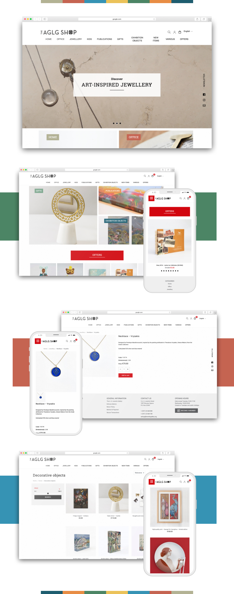 The AGLG Shop Website