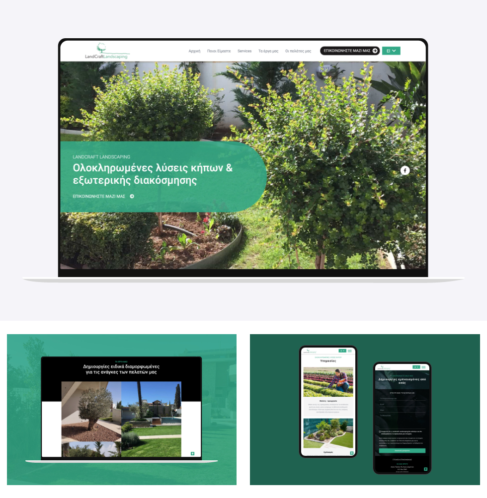 Web continent-Landcraft–landing page