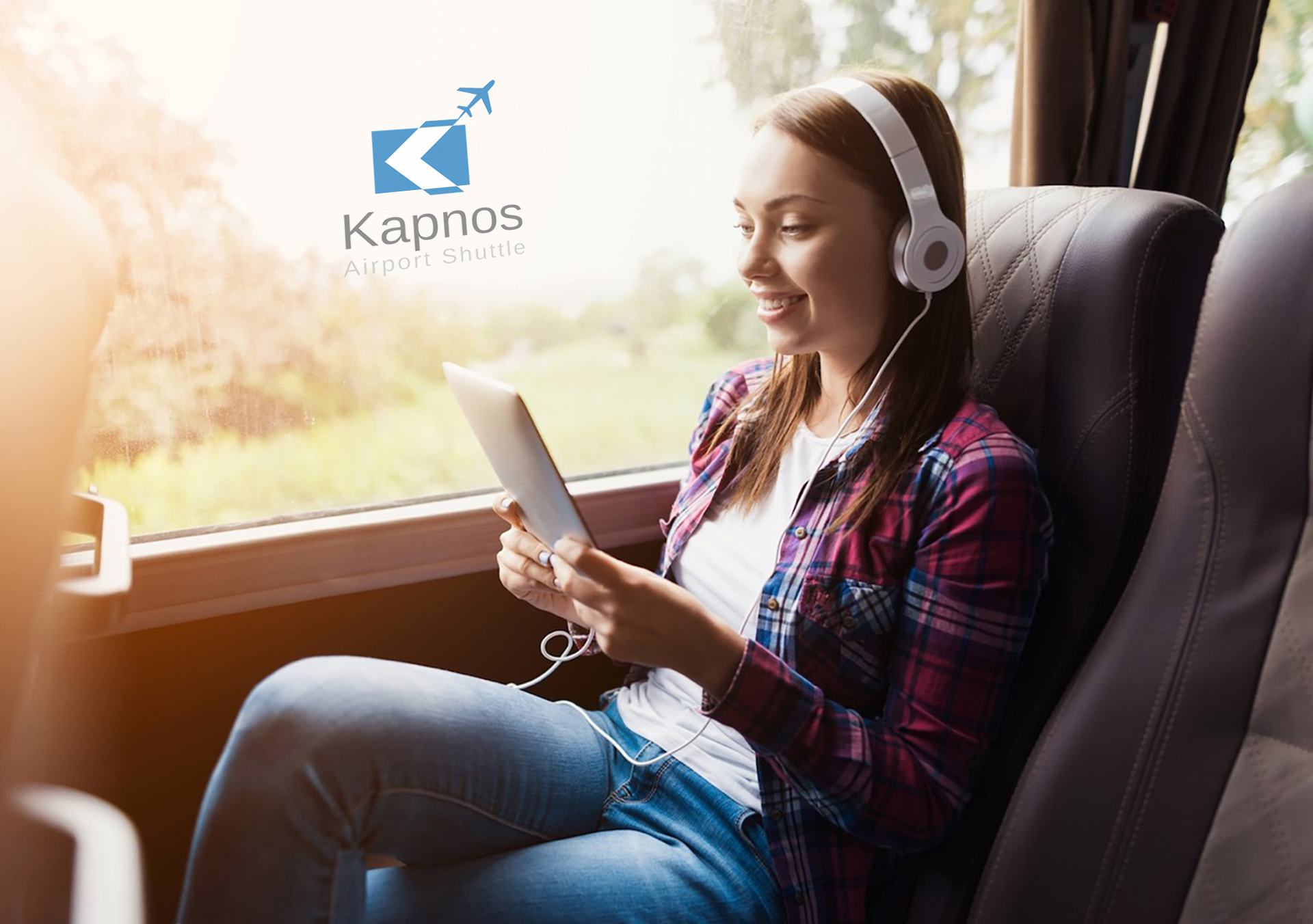 KAPNOS AIRPORT SHUTTLE Web app, Website
